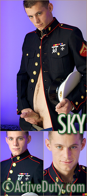 Active Duty: Twinky Marine Sky In Uniform