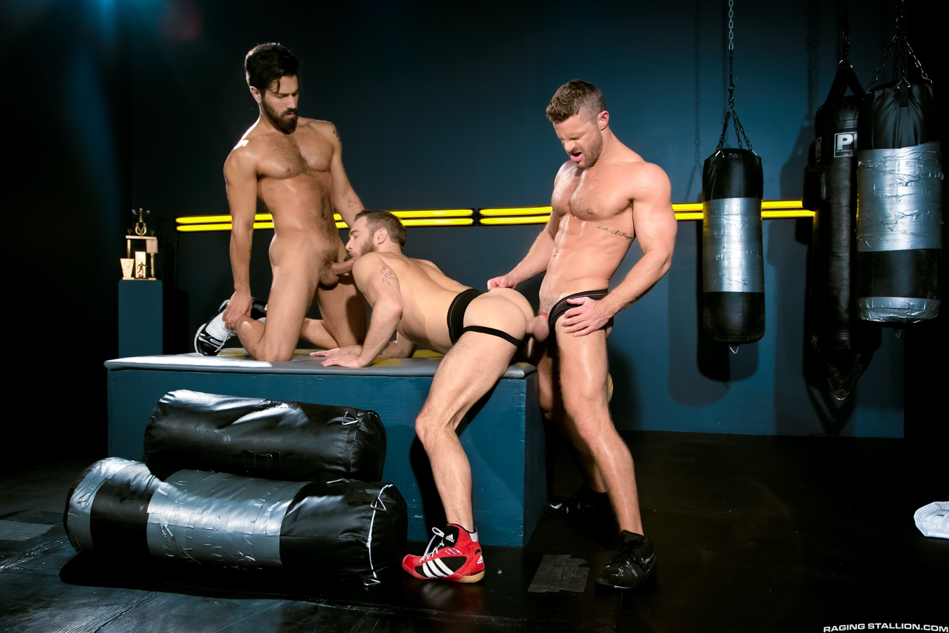 Raging Stallion – Cock Fight! Ultimate Showdown: Shawn Wolfe, Landon Conrad & Adam Ramzi