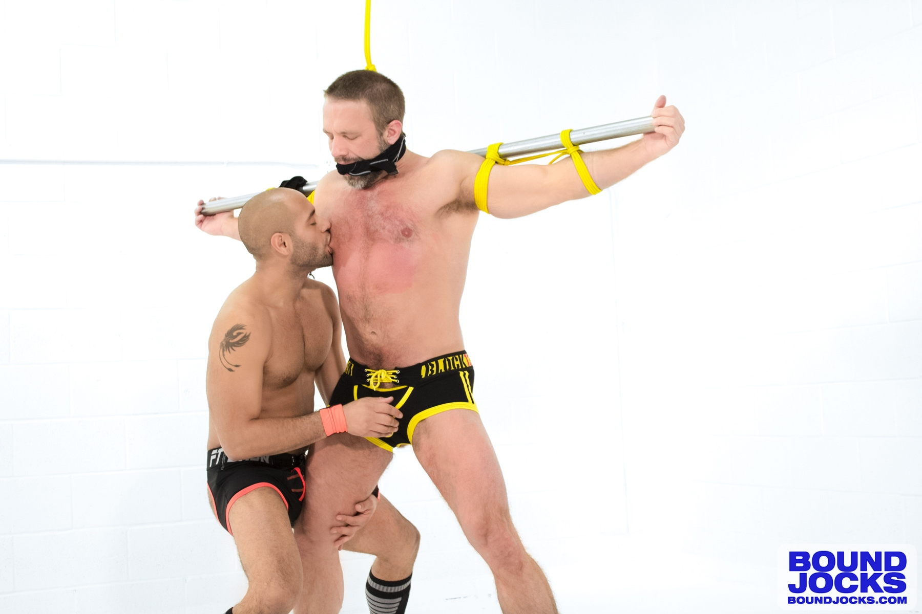 Bound Jocks – Leo Forte Flogs Dirk Caber