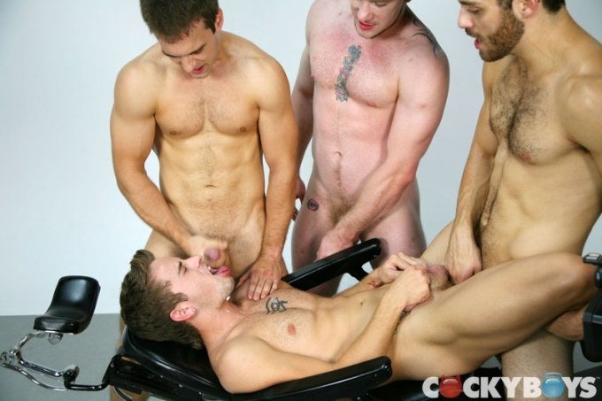 Gabriel Clark, Mason Star, Tommy Defendi and David Roy Cocky Boys